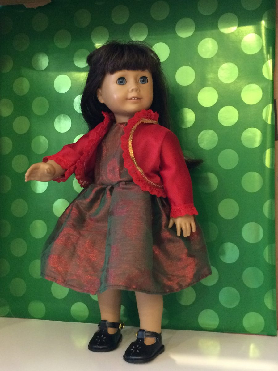 573030310cf Holiday dress with red satin bolero jacket h24 - Ruby Bell Doll Clothes