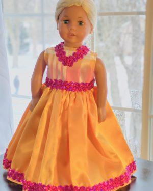 Gold and Fuchsia Dress
